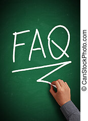 FAQ On Chalkboard