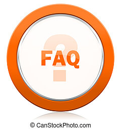 faq orange icon