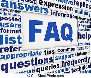FAQ poster conceptual design
