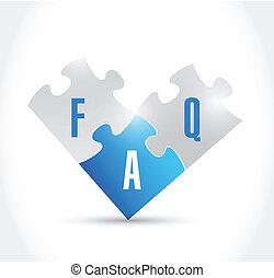 faq puzzle pieces illustration