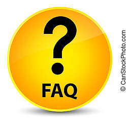 Faq (question icon) elegant yellow round button