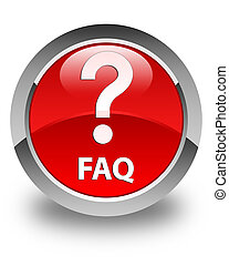 Faq (question icon) glossy red round button