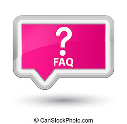Faq (question icon) prime pink banner button