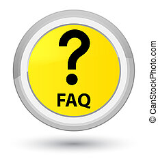 Faq (question icon) prime yellow round button