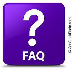 Faq (question icon) purple square button
