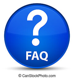 Faq (question icon) special blue round button