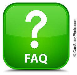 Faq (question icon) special green square button