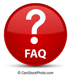 Faq (question icon) special red round button