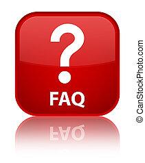 Faq (question icon) special red square button