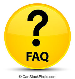 Faq (question icon) special yellow round button