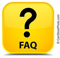 Faq (question icon) special yellow square button