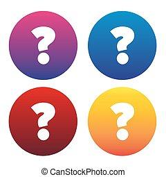 faq, question, illustration, signe, vecteur, icône, marque