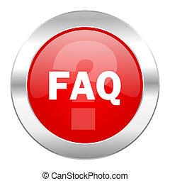 faq red circle chrome web icon isolated