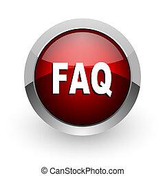 faq red circle web glossy icon