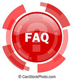faq red glossy web icon
