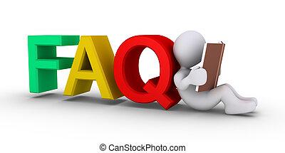 faq, respuestas, proporcionar