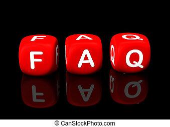 faq, rouges, cubes