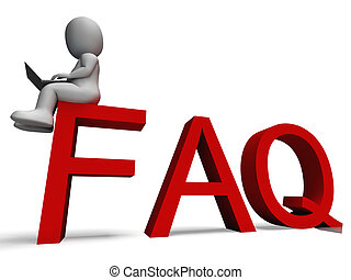 Faq Shows Frequently Asked Questions - Faq 3d character...