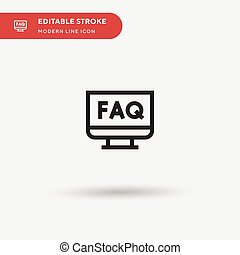 Faq Simple vector icon. Illustration symbol design template for web mobile UI element. Perfect color modern pictogram on editable stroke. Faq icons for your business project