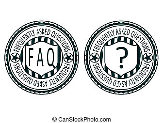 FAQ stamps - Set of FAQ rubber stamps