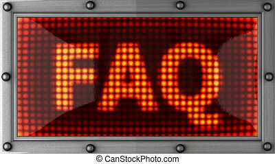 faq announcement on the LED display