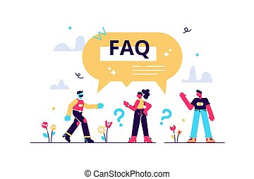 FAQ support as frequently asked questions help in flat