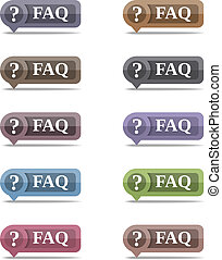 FAQ Symbols set, vector eps10 illustration
