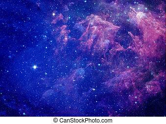 Far away galaxy - Far being shone nebula and star field...