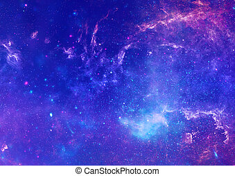 Far away galaxy - Stars of a planet and galaxy in a free ...