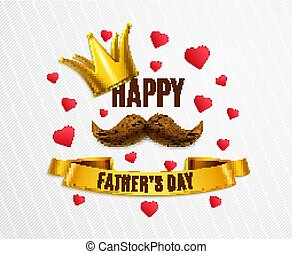 far, dag, baggrund, glade