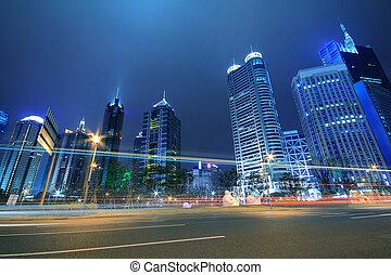 Far East Night view of Shanghai urban landscapes