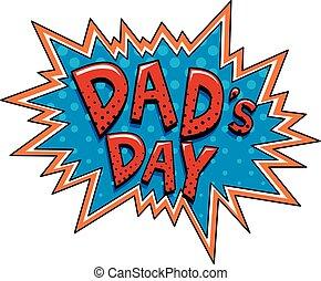 far, firmanavnet, boble, dag, cartoon