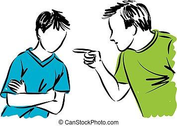 far, forældre, discipliner, søn