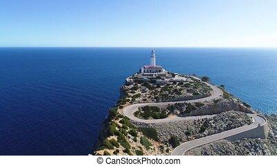 Far Formentor lighthouse at Mallorca, Spain - Far Formentor...