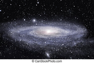 Far galaxy - Detailed picture of the distant spiral galaxy