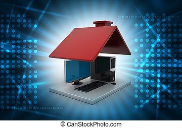 Concetto casa codice computer far male illustrazione d for Aprire piani casa concetto