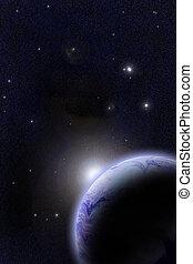 Far Orbit - Digital created space scenery.