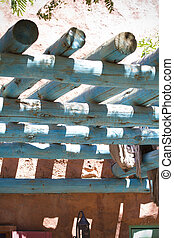 far west porch mexican arquitecture style front detail - far...