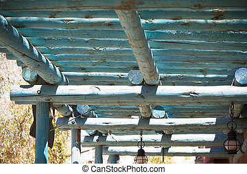 far west porch mexican arquitecture style side view - far...