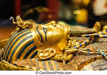 faraón, máscara, tutankhamun