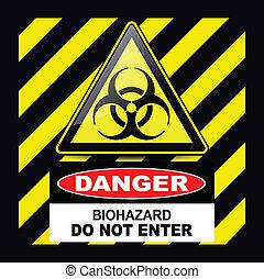 fara, biohazard, underteckna