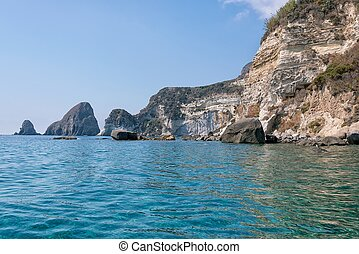 Faraglioni della madonna, ponza - photo taken along the...