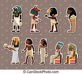 faraone, adesivi, cartone animato