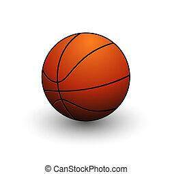 farba basketballu, abstrakcyjny, piłka, pomarańcza, symbol