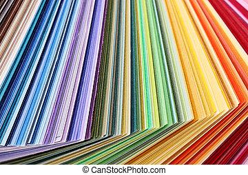 farba swatches, książka