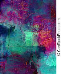 farbe, abstrakt, acryl, hintergrund