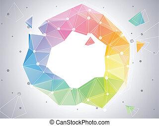 farbe, abstrakt, kreis, low-poly