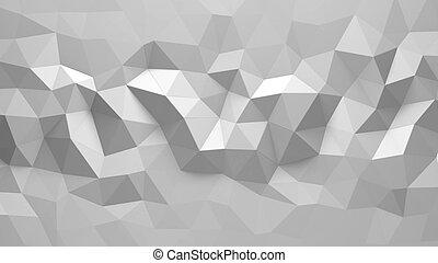 farbe, abstrakt, polygonal, hintergrund, weißes, geometrisch