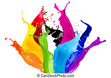 farbe, abstrakt, spritzer