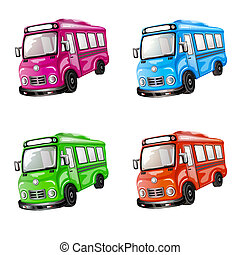 farbe, auto, collection.